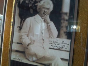 mark twain signed pic