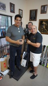In my gym with the rare Animal Trainer that Steve Reeves used to overcome a shoulder injury