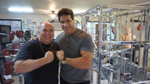 Meeting Lou Ferrigno in my gym one year ago (and 50 pounds heavier)