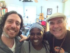 Daniel Barrett, Ruthie Foster, and me, all leaving our comfort zones