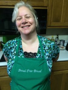 Nerissa in the gluten-free test kitchen