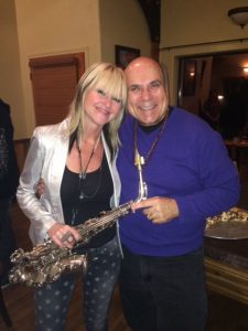 Grammy nominated sax sensation Mindi Abair and me