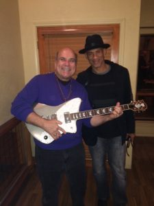 With guitarist Randy Jacobs