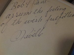 Neville signed message to you
