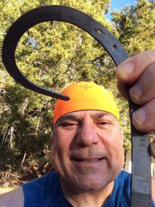 I bent this horseshoe with mind directing body