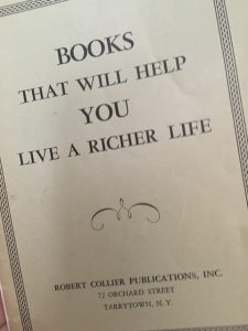 Catalog of books Collier's company sold