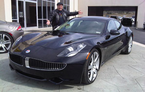 My Fisker Karma electric car - beautiful car but now bankrupt company