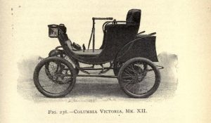 The Mark III electric car circa 1901 could go 12 mph and 35 miles