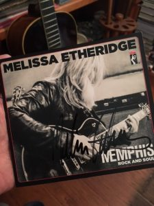 Melissa's latest album, signed