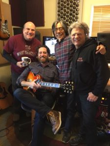 My band of legends: me, Daniel Barrett, Glenn Fugunaga, Joe Vitale